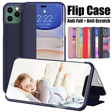 Недорогие Кейсы для iPhone-чехол для apple iphone 11 11 pro 11 pro max с окнами откидная крышка для всего тела однотонная искусственная кожа se 2020 xs xr xs max 8 8 плюс 7 7 плюс