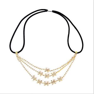 ieftine Bijuterii de Păr-Pentru femei Bijuterii de Păr Pentru Cadou Festival Floare Strălucire Zirconiu Cubic Cordon Diamante Artificiale Galben 1 buc