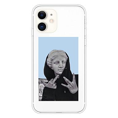 Недорогие Кейсы для iPhone-чехол для apple iphone 11 11 pro 11 pro max xs xr xs max 8 плюс 7 плюс 6 s плюс 8 7 6 6 s se 5 5s прозрачный рисунок задняя крышка статуя забавного мягкого тпу