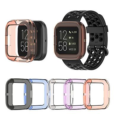 Недорогие Аксессуары для смарт-часов-ультра-тонкий мягкий тпу защитник чехол прозрачный защитный чехол для fitbit наоборот 2-полосный смарт-часы браслет протектор экрана
