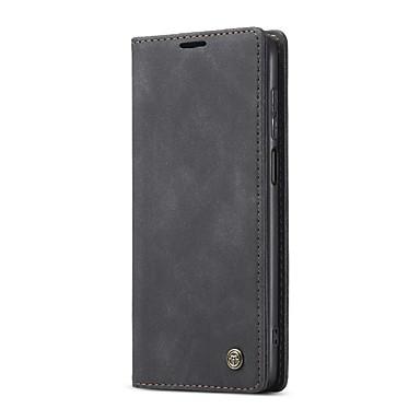 cheap Xiaomi Case-Caseme Case For Xiaomi Redmi Note 9 Pro / Redmi Note 9 Pro Max / Redmi Note 9S Wallet / Card Holder / Flip Full Body Cases Solid Colored TPU