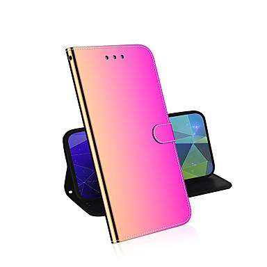 Недорогие Кейсы для iPhone-градиент флип кожаный чехол для iphone 11 pro max x xr xs max 6 6s 7 8 plus se чехол для телефона кошелек из пвх кошелек