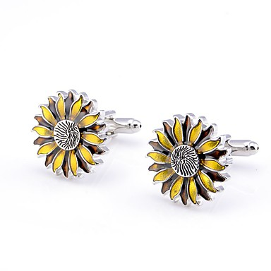 povoljno Muški nakit-Muškarci Mandzsettagombok Suncokret Klasik Broš Jewelry Srebro Za Dnevni Nosite