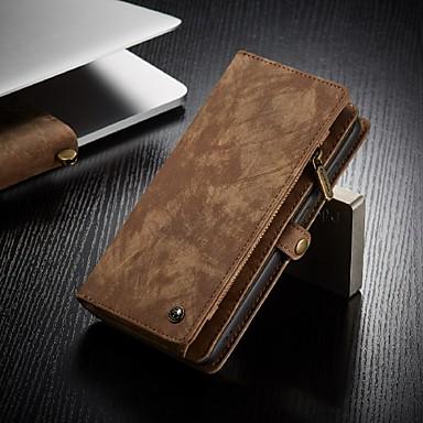 Недорогие Чехол Samsung-caseme samsung s серия кожаный защитный кошелек со съемным магнитным замком чехол для мобильного телефона много отделений 11 карманов для карточек карман на молнии для монет сумка кошелек