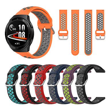 Недорогие Аксессуары для смарт-часов-Ремешок для часов для Huawei Watch GT 2 / Huawei Watch GT2 46mm / Huawei Watch GT 2e Huawei Современная застежка силиконовый Повязка на запястье