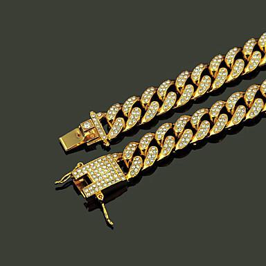 Недорогие Ожерелья-Муж. Золотой Кристалл длинное ожерелье долларов Панк Сплав Золотой Серебряный 45 cm Ожерелье Бижутерия Назначение Для улицы