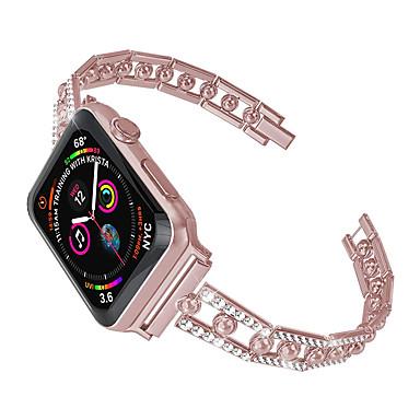 Недорогие Аксессуары для смарт-часов-Ремешок для часов для Apple Watch Series 5 / Apple Watch Series 4/3/2/1 Apple Классическая застежка Нержавеющая сталь Повязка на запястье