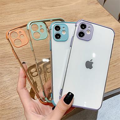 Недорогие Кейсы для iPhone-кристально чистый мягкий силиконовый чехол для телефона чехол для iphone 11 pro max se 2020 11 11pro x xr xs max 7plus 7 8 8 плюс полная защита объектива камеры