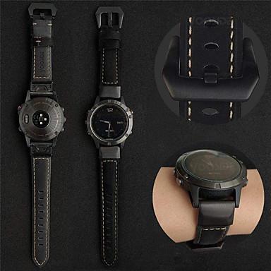 Недорогие Аксессуары для смарт-часов-smartwatch band для garmin fenix 6x / 6 / fenix6s / 6pro / 5s / 5 / 5x / 3 / 3hr кожаная петля из натуральной кожи спортивные бизнес-группы высокого класса, удобные браслеты для здоровья