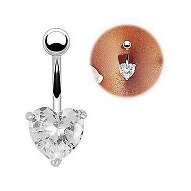 ieftine Bijuterii de Corp-Inel inelar / Piercing pe burta Pentru femei Bijuterii de corp Pentru Bikini Zirconiu Cubic Diamante Artificiale Aliaj Inimă Alb Mov Roz Îmbujorat