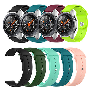 Недорогие Часы для Samsung-Спортивный силиконовый ремешок для часов ремешок для часов Samsung Samsung 46 мм / Gear S3 Classic / S3 Frontier / Garmin Fenix Chronos сменный браслет браслет