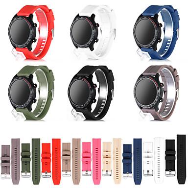 Недорогие Аксессуары для смарт-часов-Ремешок для часов для Huawei Watch GT / Huawei Watch GT 2 Huawei Спортивный ремешок силиконовый Повязка на запястье