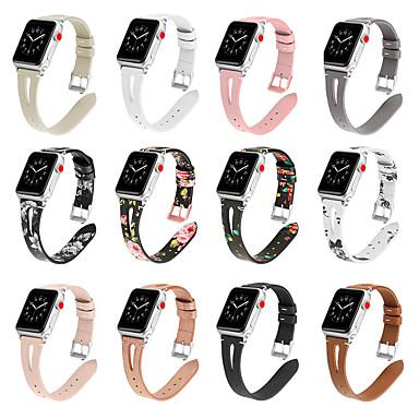 Недорогие Аксессуары для смарт-часов-Ремешок для часов для Серия Apple Watch 5/4/3/2/1 Apple Современная застежка Стеганная ПУ кожа / Натуральная кожа Повязка на запястье