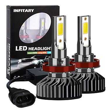 Недорогие Автомобильные фары-INFITARY 2pcs H11 Автомобиль Лампы 72 W COB 8000 lm Светодиодная лампа Налобный фонарь Назначение Универсальный