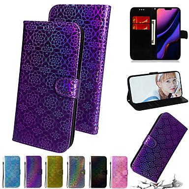Недорогие Кейсы для iPhone-градиент красочные искусственный кожаный чехол для телефона для iphone se 2 2020 se2 11 max pro xs max xr x 8 7 6 плюс слот для карты откидная крышка кошелька