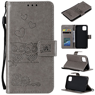 cheap iPhone Cases-Case For iPhone 7 8 7plus 8plus XR XS XSMAX X SE 11 11Pro 11ProMax Card Holder Flip Pattern Full Body Cases owl animal PU Leather TPU