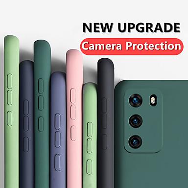 お買い得  Huawei 用ケース/カバー-液体シリコーンゴムソフトケースファーウェイp40 p40プロp40ライトp30 p30ライトp30プロメイト30メイト30プロ