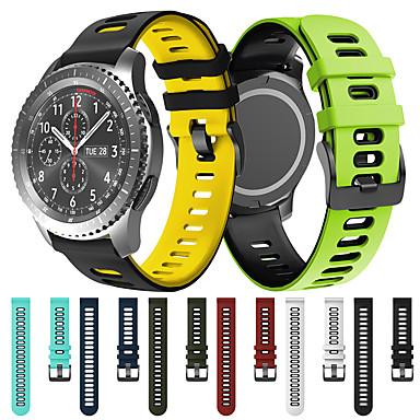 Недорогие Аксессуары для смарт-часов-спортивный силиконовый ремешок для часов ремешок для часов Samsung Samsung 46 мм / шестерня s3 classic / gear s3 frontier / gear 2 r380 / neo r381 / live r382 сменный браслет браслет