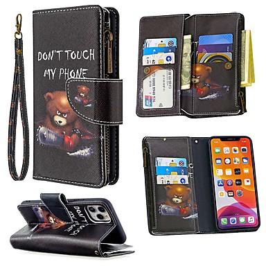 Недорогие Кейсы для iPhone-чехол для apple iphone se 2020 iphone 11 pro держатель iphone 11 pro max кошелек с подставкой для всего тела чехол слово / фраза искусственная кожа iphone xs max xr x 8 7 плюс 6 6s