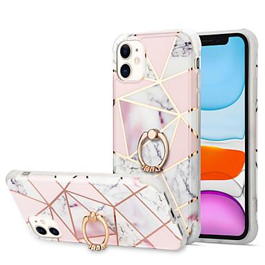 Недорогие Кейсы для iPhone-чехол для apple iphone 7 8 7 плюс 8 plus x xs xr xs max se 11 11 pro 11 pro max противоударная обшивка держателя кольца задняя крышка мраморный тпу