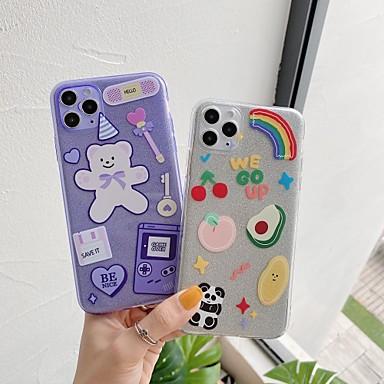 Недорогие Кейсы для iPhone-чехол для яблока iphone7 8 7 плюс 8 плюс xr xs xsmax x se 11 11pro 11promax полупрозрачный рисунок задняя крышка медведь панда мультфильм тпу