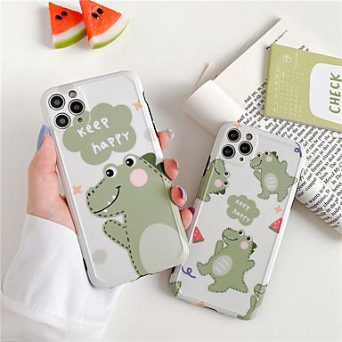Недорогие Кейсы для iPhone-Кейс для Назначение Apple iPhone 11 / iPhone 11 Pro / iPhone 11 Pro Max Защита от удара / Защита от пыли / IMD Кейс на заднюю панель Животное / Мультипликация / 3D в мультяшном стиле ТПУ