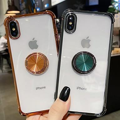 Недорогие Кейсы для iPhone-чехол для apple iphone7 8 se 7plus 8plus xr xs xsmax x 11 11pro 11promax противоударная обшивка держателя кольца задняя крышка бампера прозрачный шт