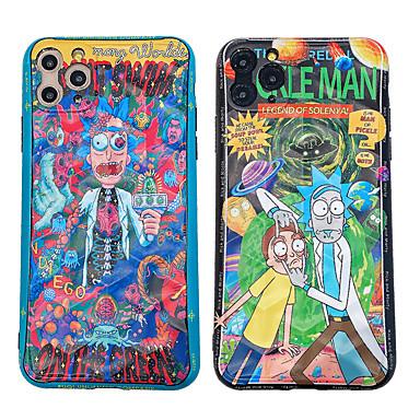 Недорогие Кейсы для iPhone-чехол для apple iphone 11 / iphone 11 pro / iphone 11 pro max ударопрочный / imd / рик и мёртвый рисунок задняя крышка мультфильм / череп
