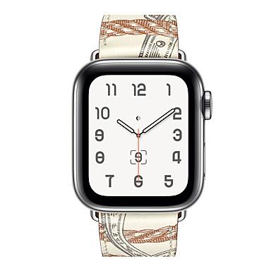 Недорогие Аксессуары для смарт-часов-ремешок для часов для Apple Watch серии 5 / Apple, смотреть серии 4/3/2/1 яблоко классическая пряжка из натуральной кожи ремешок на запястье