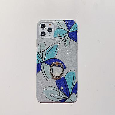 Недорогие Кейсы для iPhone-Кейс для Назначение Apple iPhone 11 / iPhone 11 Pro / iPhone 11 Pro Max Кольца-держатели / С узором / Сияние и блеск Кейс на заднюю панель Геометрический рисунок / Сияние и блеск / Цветы ТПУ