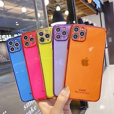 Недорогие Кейсы для iPhone-чехол для apple iphone7 8 se 7plus 8plus xr xs xsmax x 11 11pro 11promax прозрачная задняя крышка прозрачный цвет тпу pc