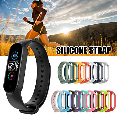 cheap Watch Bands for Xiaomi-Newest for Xiaomi mi Band 5 Strap Silicone Soft TPU Wristband Replacement Colorful Strap for Xiaomi mi Band 5 Bracelets