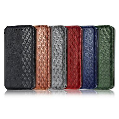 Недорогие Кейсы для iPhone-чехол для яблока iphone xs / iphone xr / iphone xs max кошелек / визитница / с подставкой для всего тела чехлы из искусственной кожи сплошного цвета