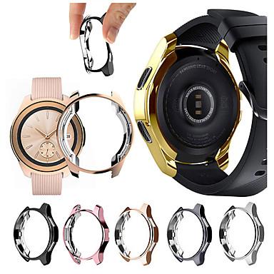 Недорогие Аксессуары для смарт-часов-Корпус с гальваническим покрытием для часов Samsung Galaxy 46 мм Мягкое ТПУ Универсальный защитный бампер Края рамы вокруг передач S3