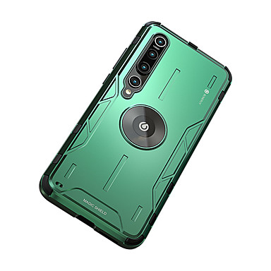 Недорогие Чехлы и кейсы для Xiaomi-чехол для xiaomi mi 10 xiaomi mi 10pro противоударный с подставкой задняя крышка сплошной цвет силиконовый металл