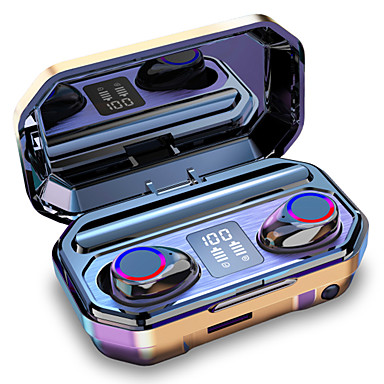 Недорогие Наушники и гарнитуры-litbest m12 tws правда беспроводные наушники светодиодный фонарик 3500mAh мобильное питание Bluetooth 5.0 наушники светодиодный дисплей питания ipx7