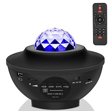 halpa Audio- ja videotarvikkeet-led-tähtiprojektorin yövalogalaksi tähtikirkas yölamppu valtameri-aaltoprojektori musiikillisella bluetooth-kaiuttimen kaukosäätimellä lapselle