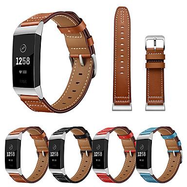 Недорогие Аксессуары для смарт-часов-Ремешок для часов для Fitbit Charge 3 Fitbit Современная застежка Натуральная кожа Повязка на запястье