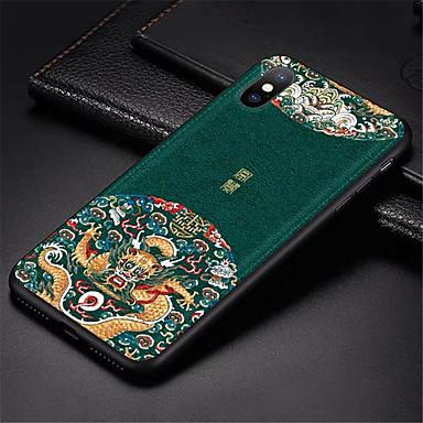 Недорогие Кейсы для iPhone-задняя крышка с тиснением из кожи для iphone 6 plus iphone 7 plus iphone 8 plus case специальные чехлы для телефона в китайском стиле для iphone x iphone xs iphone xs max
