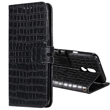 Недорогие Чехлы и кейсы для LG-чехол для LG G6 G7 Stylo4 Stylo5 K40 K50 Q60 Q70 Держатель карты флип магнитные чехлы для всего тела сплошной цвет искусственная кожа ТПУ крокодиловой печати