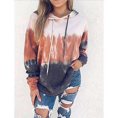 cheap Women's Tops-Women's Hoodie Solid Colored Casual Hoodies Sweatshirts  Loose Blue Orange Gray