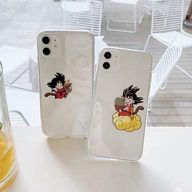 Недорогие Кейсы для iPhone-чехол для apple iphone7 8 7plus 8plus xr xs xsmax x se 11 11pro 11promax мультфильм тпу полупрозрачная задняя крышка играет с логотипом apple
