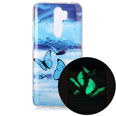 Недорогие Чехлы и кейсы для Xiaomi-чехол для xiaomi redmi note 7 redmi note 8 redmi note 8 pro свечение в темноте / рисунок с задней крышкой бабочка тпу для mi 10 mi 10 pro