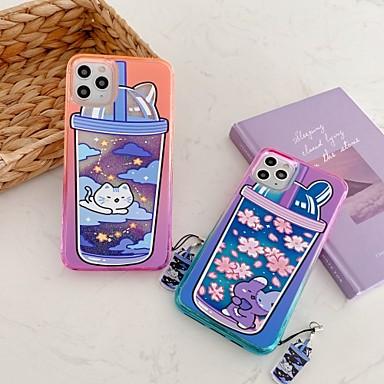 Недорогие Кейсы для iPhone-Кейс для Назначение Apple iPhone 11 / iPhone 11 Pro / iPhone 11 Pro Max Движущаяся жидкость / С узором Кейс на заднюю панель Продукты питания / Цветы ТПУ / ПК