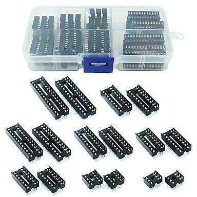 levne KIT-66pcs / lot dip ic sockets adapter pájecí typ zásuvka sada 6/8/14/16/18/20/24/28 pin pro arduino PCB diy kit