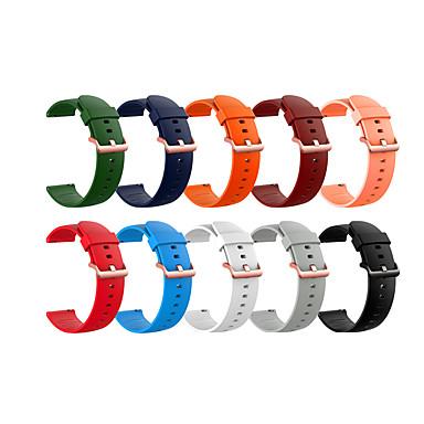 Недорогие Часы для Samsung-Ремешок для часов для Gear S3 Classic / Gear 2 R380 / Gear 2 Neo R381 Samsung Galaxy Классическая застежка силиконовый Повязка на запястье