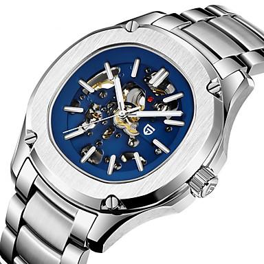Недорогие Часы на металлическом ремешке-PAGANI Муж. Механические часы С автоподзаводом Стильные На каждый день Защита от влаги Аналоговый Белый Синий / Нержавеющая сталь / Нержавеющая сталь