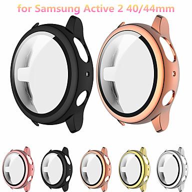 Недорогие Аксессуары для смарт-часов-защитный чехол, совместимый для Samsung Galaxy Active 2 44 мм 40 мм с защитой экрана жесткий чехол для ПК тонкий закаленное стекло защитная пленка для экрана общая защитная крышка
