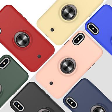 Недорогие Кейсы для iPhone-чехол для яблока iphone 6 6s 7 8 6plus 6splus 7plus 8plus x xr xs xsmax se (2020) iphone 11 11pro 11promax противоударный держатель кольца задняя крышка сплошной цветной тп ПК металл