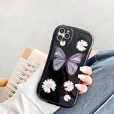 Недорогие Кейсы для iPhone-чехол для apple iphone 7 8 7plus 8plus x xr xs xsmax se (2020) iphone 11 11pro 11promax противоударный рисунок задняя крышка бабочка цветок тпу